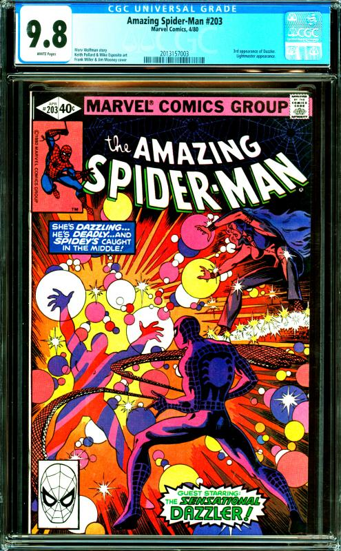 Amazing Spider-Man #203 CGC Graded 9.8 3rd Appearance of Dazzler