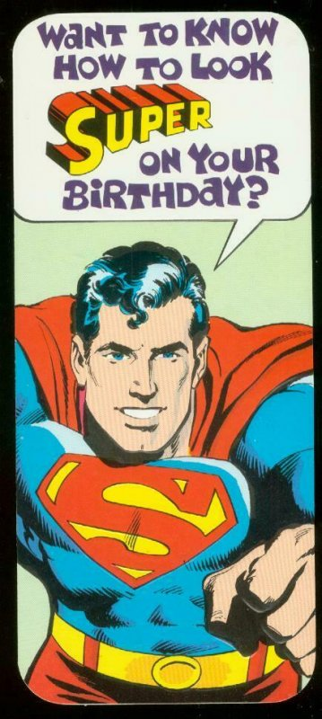 NEAL ADAMS SUPERMAN BIRTHDAY CARD #15 1978 NM