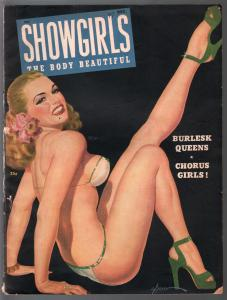 Showgirls #6 1947-George Gross pin-up girl cover-spanking-cheesecake-VG+