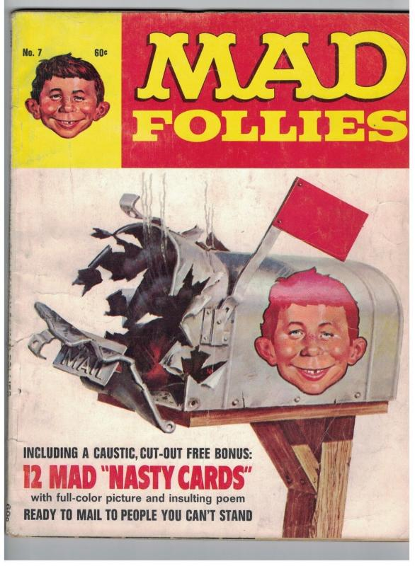 MAD FOLLIES (1969) 7 G-VG  with NASTY CARDS