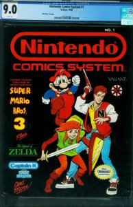 Nintendo Comics System #1 CGC 9.0 1990 HTF NO PRICE VARIANT 2051413001