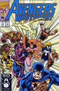 Avengers West Coast #74, NM- (Stock photo)