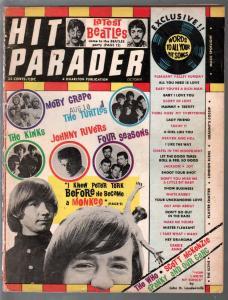 Hit Parader 10/1967-Beatles-Monkees-Turtles-pix-info-lyrics-VG