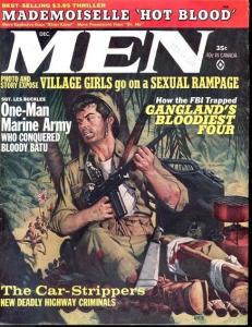 MEN 1964 DEC-BLOODY WWII JAPANESE AMBUSH CVR PULP FICTI VF