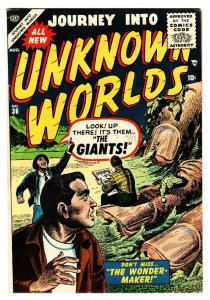 Journey Into Unknown Worlds #36 1955-Atlas-pre-code horror-Flying Saucers FN/VF