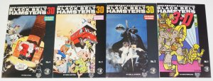 Adolescent Radioactive Black Belt Hamsters 3-D #1-4 complete series SAM KIETH