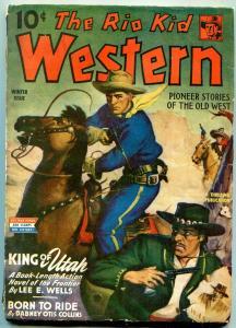 Rio Kid Western Pulp Winter 1944- King of Utah-Brigham Young VG