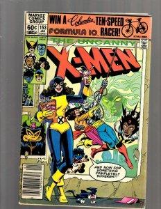 Uncanny X-Men # 153 FN Marvel Comic Book Sabretooth Storm Rogue Wolverine EK9