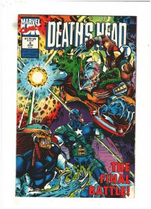 Death's Head II #4 VF/NM 9.0 Marvel UK Comics 1992  Wolverine & Punisher app.