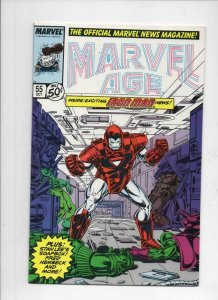 MARVEL AGE #55, VF/NM, IronMan, 1985 1987 more Marvel in store