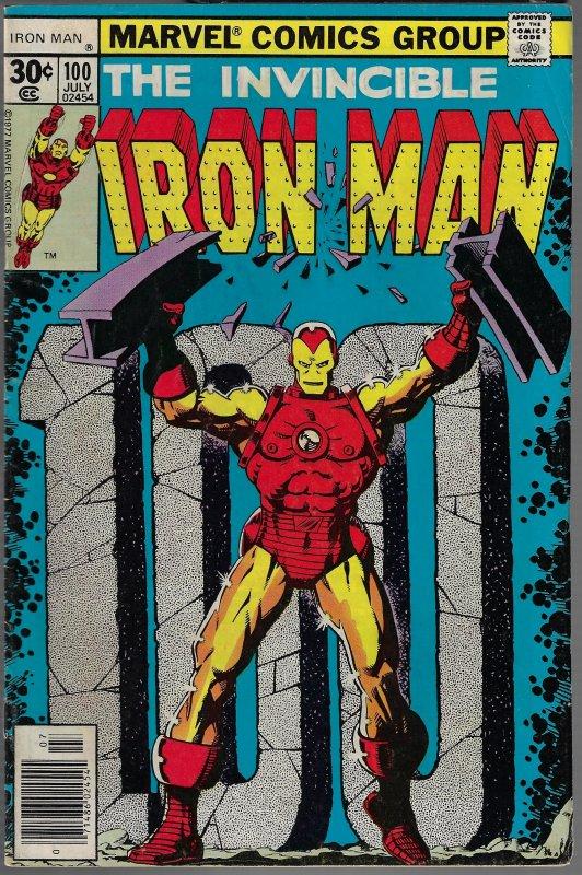Iron Man #100 (Marvel, 1977) FN/VF