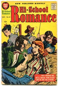Hi-School Romance #69 1957- Harvey Silver Age hay ride cover VG