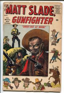 Matt Slade Gunfighter #4 1956-Atlas-Joe Maneely-G/VG