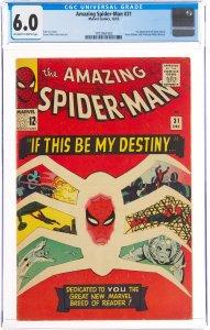 The Amazing Spider-Man #31 (Marvel, 1965) CGC Graded 6.0