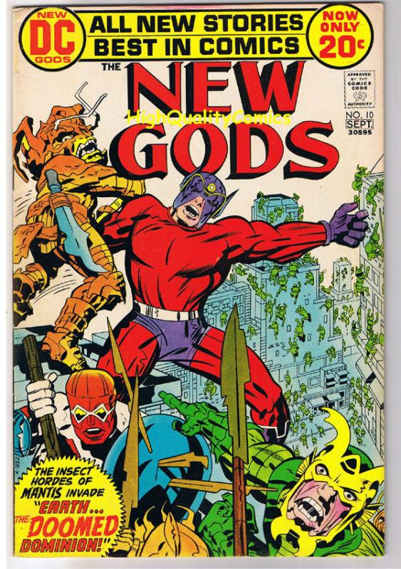 NEW GODS #10, FN+, Jack Kirby, Doomed Dominion,1971,more JK in store,Bronze age