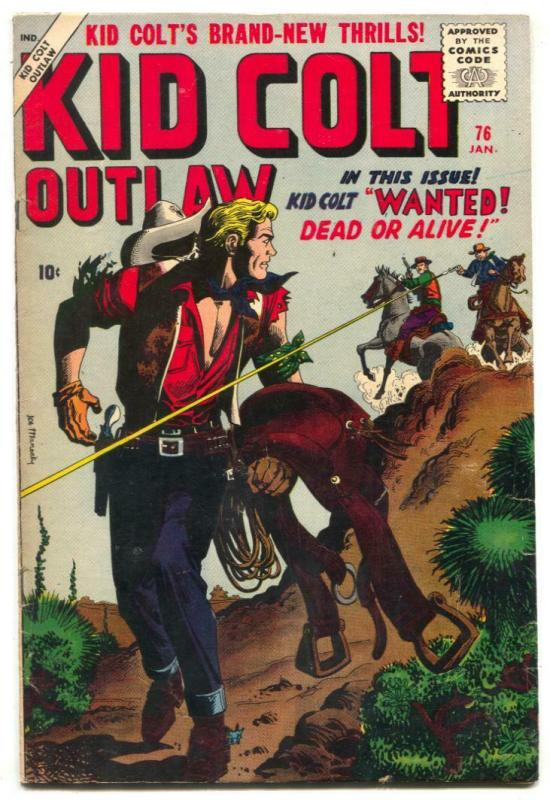 Kid Colt Outlaw #76 1958- Joe Maneely cover- Atlas Western VG/F