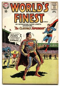 WORLDS FINEST #140 VG+ 1964-CLAYFACE-BATMAN-SUPERMAN