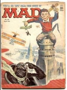 MAD Magazine #94-1965-King Kong parody cover G