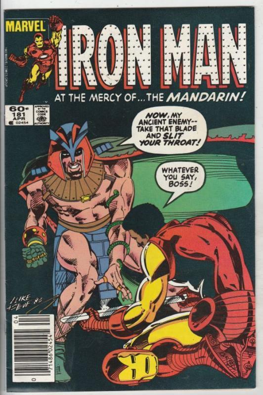 Iron Man #181 (Apr-85) NM- High-Grade Iron Man