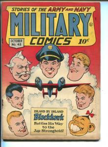 MILITARY #43 1945-QUALITY-FIANL ISSUE-DEATH PATROL-SAHLE-EZRA-good+