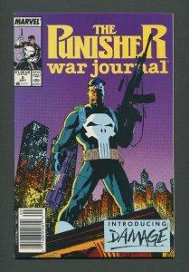 Punisher War Journal #8  / 9.2 NM-   / Newsstand / September 1989