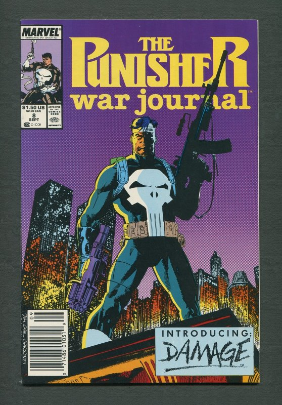 Punisher War Journal #8  / 9.2 NM-   / Newsstand / September 1989