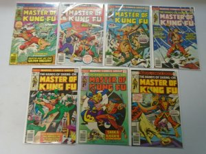 Master of Kung Fu lot 13 different 30c covers from #44-57 avg 6.0 FN (1976-77)