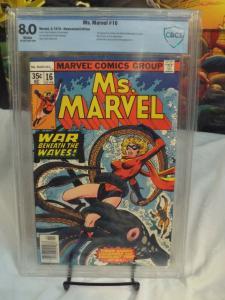 Ms. Marvel #16 (1978) - CBCS 8.0 - 1st Cameo Mystique (Raven Darkholme)