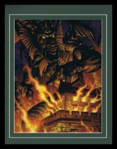 Fin Fang Foom Framed 11x14 Marvel Masterpieces Poster Display