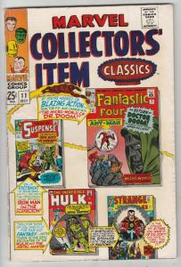 Marvel Collectors' Item #11 (Oct-67) FN/VF Mid-High-Grade Fantastic Four, Mr....