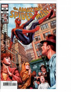 Amazing Spider-Man (2018) 24 NM (9.4) Marvels 25th cover