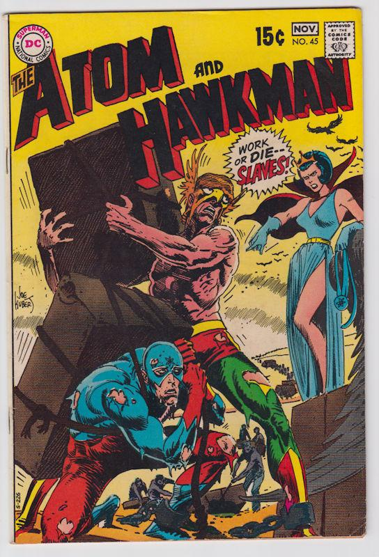 The Atom & Hawkman #45 (Oct-Nov 1969, DC) Fine+