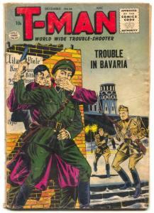 T-Man #38 1956- Hitler- Cold War thrills G+