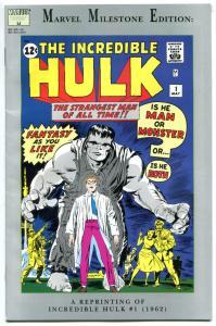 INCREDIBLE HULK #1, Milestone Edition, FN+, Jack Kirby, Stan Lee, 1991