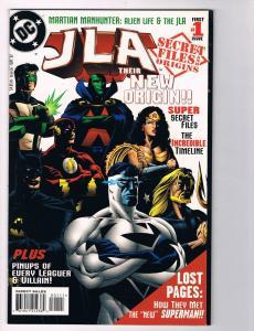 JLA Secret Files And Origins Their New Origins # 1 DC Comic Books Batman!!!! S46