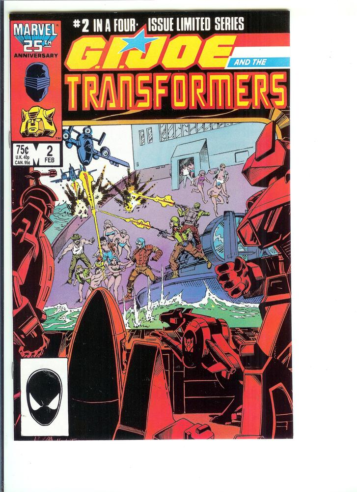 GI Joe /& the Transformers #2 VF Marvel Comics Feb 1987