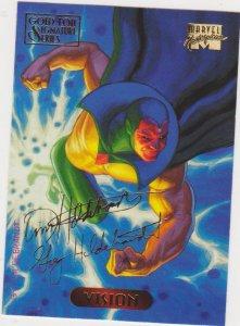 1994 Marvel Masterpieces Gold Foil Signature Series #132 Vision/Hilderbrandt