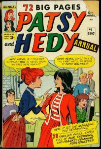 Patsy and Hedy Annual #1 1963- Paper Dolls- Marvel Romance VG-