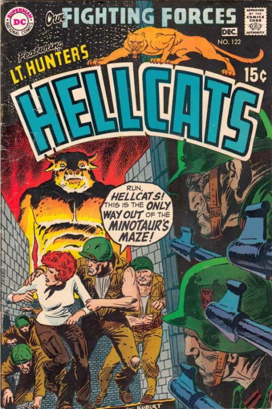 Our Fighting Forces #122 (Dec-69) FN+ Mid-High-Grade Lt. Hunter's Hellcats