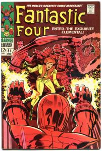 FANTASTIC FOUR #81, VF-, Crystal joins, Jack Kirby, 1961, more FF in store, QXT