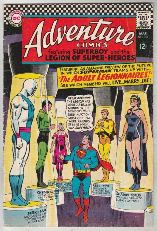 Adventure Comics #354 (Mar-67) FN/VF Mid-High-Grade The Adult Legion of Super...