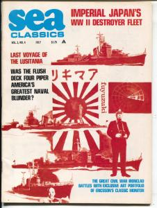 Sea Classics 7/1970-Challenge-Lusitania-Civil War-Jap Destroyer Fleet-VF