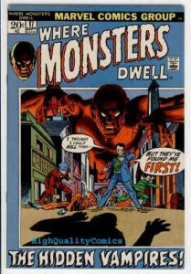 WHERE MONSTERS DWELL #17, Ditko, Vampires, 1970, FN/VF