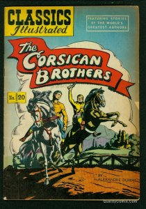 Classics Illustrated #20 GD/VG 3.0 HRN 62 The Corsican Brothers!