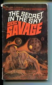 DOC SAVAGE-THE SECRET IN THE SKY-#20-ROBESON-G- JAMES BAMA COVER- G