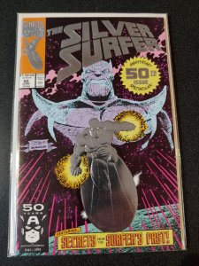 THE SILVER SURFER #50 embossed cover. THANOS HIGH GRADE