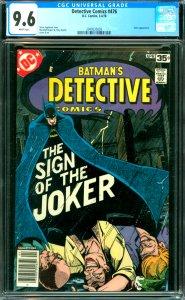Detective Comics #476 CGC 9.6