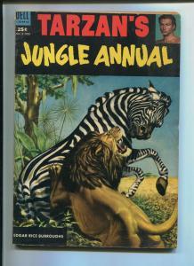 TARZAN'S JUNGLE ANNUAL #2 1953-DELL-EDGAR RICE BURROUGHS-VG