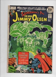SUPERMAN'S PAL JIMMY OLSEN #143, VF+, Jack Kirby, Neal Adams Genocide Spray 1971