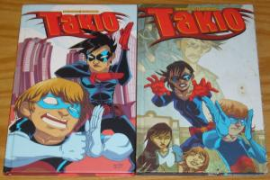 Takio HC 1-2 complete series - brian bendis - michael avon oeming - hardcovers